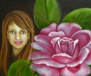 Elena med blomst