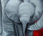 Elefant med barn