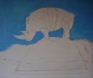 Rhinos on alpetop